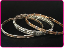 Square Wire Bangles Both