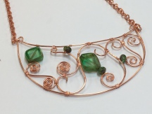 Wire Filigree Bib Necklace