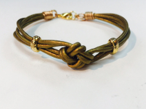 Leather Crown Knot Bracelet