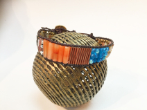 Loomed Leather Bracelet